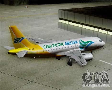 Airbus A319-100 Cebu Pacific Air for GTA San Andreas wheels