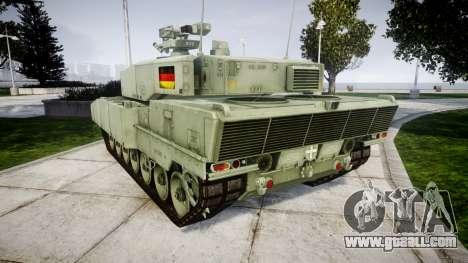 Leopard 2A7 DE Green for GTA 4 back left view