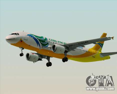 Airbus A320-200 Cebu Pacific Air for GTA San Andreas left view