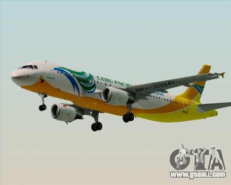 Airbus A320-200 Cebu Pacific Air for GTA San Andreas left view