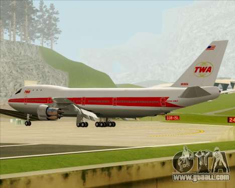 Boeing 747-100 Trans World Airlines (TWA) for GTA San Andreas wheels