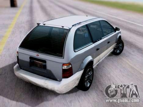 GTA V Minivan for GTA San Andreas left view