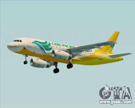 Airbus A319-100 Cebu Pacific Air for GTA San Andreas engine