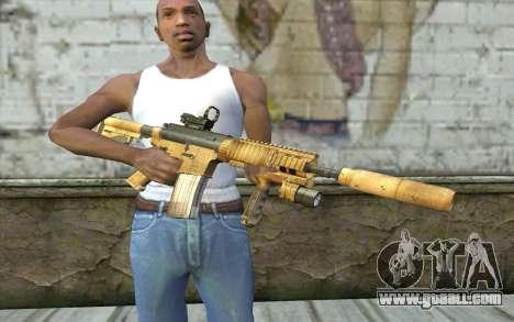 M4A1 Sopmod for GTA San Andreas third screenshot