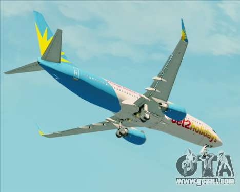 Boeing 737-800 Jet2Holidays for GTA San Andreas upper view