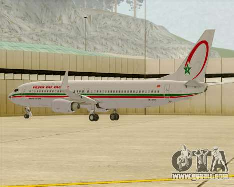 Boeing 737-8B6 Royal Air Maroc (RAM) for GTA San Andreas wheels