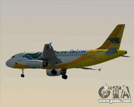 Airbus A319-100 Cebu Pacific Air for GTA San Andreas back view