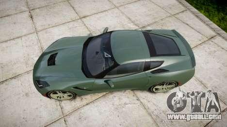 Chevrolet Corvette C7 Stingray 2014 v2.0 TirePi2 for GTA 4 right view