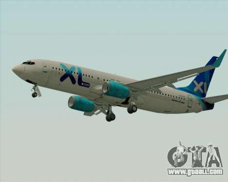 Boeing 737-800 XL Airways for GTA San Andreas back left view