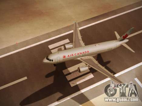 Airbus A320-214 Air Canada for GTA San Andreas back view