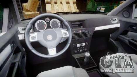 Vauxhall Astra 2010 Metropolitan Police [ELS] for GTA 4 back view