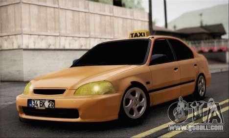 Honda Civic Fake Taxi for GTA San Andreas