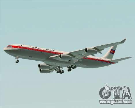 Airbus A340-300 Air Koryo for GTA San Andreas wheels