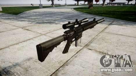 American sniper rifle SR-25 for GTA 4 second screenshot