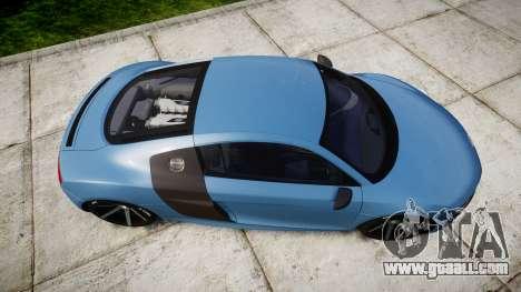 Audi R8 V10 Plus 2013 Vossen VVS CV3 for GTA 4 right view