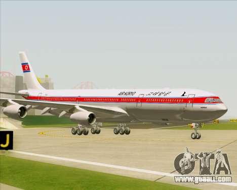 Airbus A340-300 Air Koryo for GTA San Andreas side view