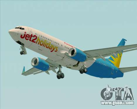 Boeing 737-800 Jet2Holidays for GTA San Andreas back view