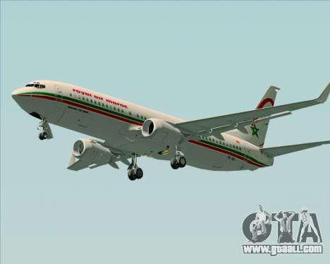Boeing 737-8B6 Royal Air Maroc (RAM) for GTA San Andreas left view