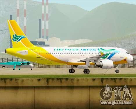 Airbus A320-200 Cebu Pacific Air for GTA San Andreas inner view