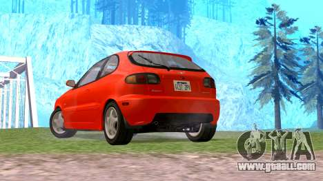 Daewoo Lanos Sport US 2001 for GTA San Andreas left view