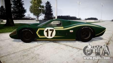 Ford GT40 Mark IV 1967 PJ 17 for GTA 4 left view