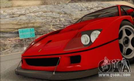 Ferrari F40 Competizione Black Revel for GTA San Andreas right view
