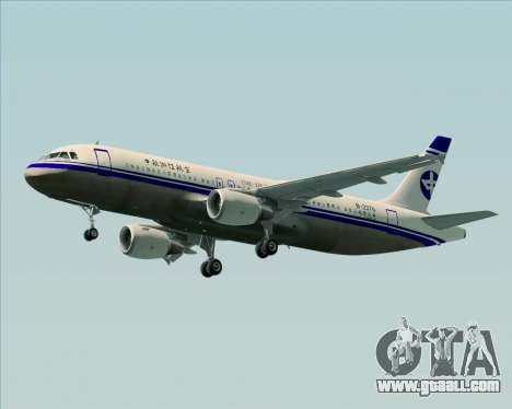 Airbus A320-200 CNAC-Zhejiang Airlines for GTA San Andreas left view
