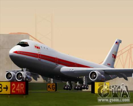 Boeing 747-100 Trans World Airlines (TWA) for GTA San Andreas right view