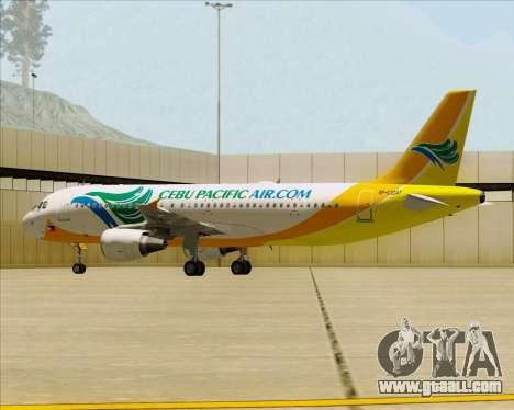 Airbus A320-200 Cebu Pacific Air for GTA San Andreas wheels