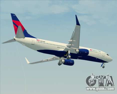Boeing 737-800 Delta Airlines for GTA San Andreas side view