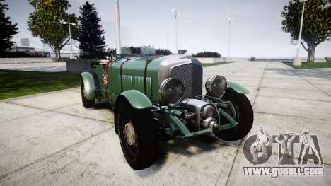 Bentley Blower 4.5 Litre Supercharged [low] for GTA 4