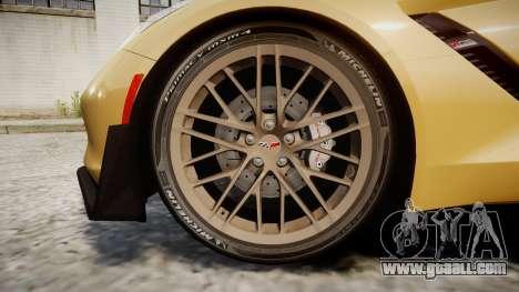 Chevrolet Corvette Z06 2015 TireMi5 for GTA 4 back view