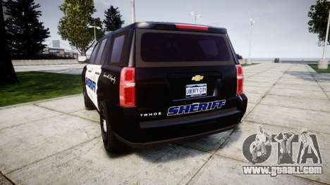 Chevrolet Tahoe 2015 Sheriff [ELS] for GTA 4 back left view