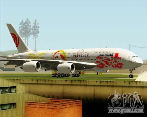 Airbus A380-800 Air China for GTA San Andreas inner view