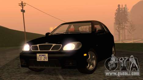 Daewoo Lanos Sport US 2001 for GTA San Andreas back view