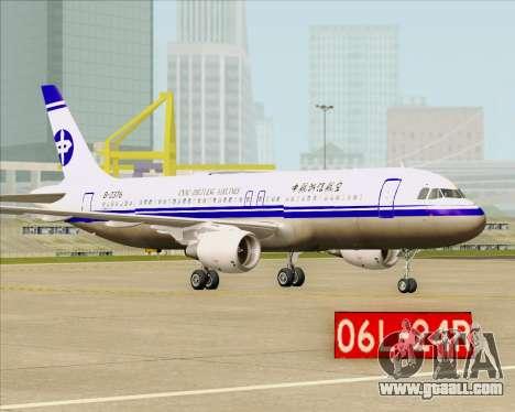 Airbus A320-200 CNAC-Zhejiang Airlines for GTA San Andreas back view