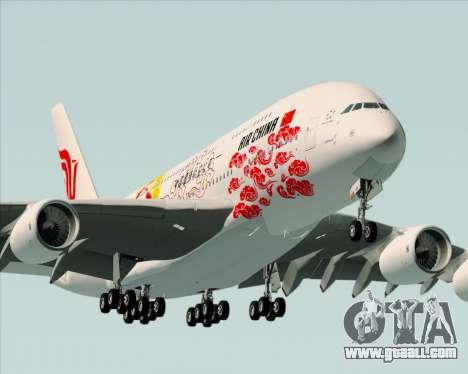 Airbus A380-800 Air China for GTA San Andreas engine