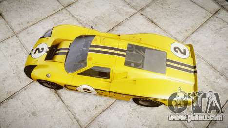 Ford GT40 Mark IV 1967 PJ 2 for GTA 4 right view