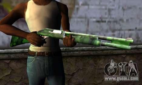 Chromegun v2 Military coloring for GTA San Andreas third screenshot