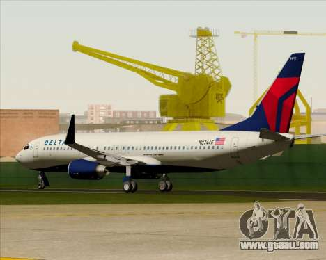 Boeing 737-800 Delta Airlines for GTA San Andreas upper view