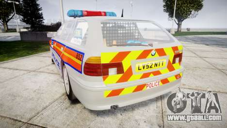 BMW 525i E39 Touring Police [ELS] JSTV for GTA 4 back left view