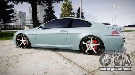 BMW M6 Vossen VVS CV3 for GTA 4 left view
