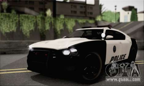 Bravado Buffalo S Police Edition (IVF) for GTA San Andreas back view