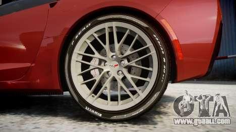 Chevrolet Corvette Z06 2015 TirePi2 for GTA 4 back view