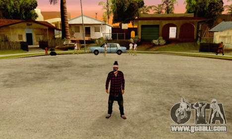 The Ballas Gang Skin Pack for GTA San Andreas third screenshot