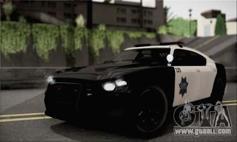 Bravado Buffalo S Police Edition (IVF) for GTA San Andreas right view