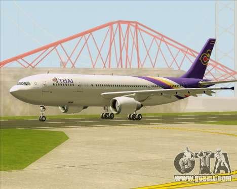 Airbus A300-600 Thai Airways International for GTA San Andreas back left view