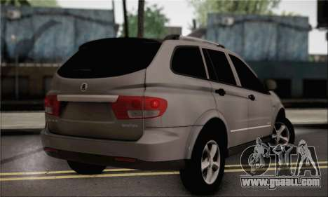 SsangYong Kyron for GTA San Andreas left view