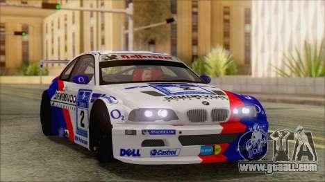 BMW M3 E46 GTR for GTA San Andreas inner view