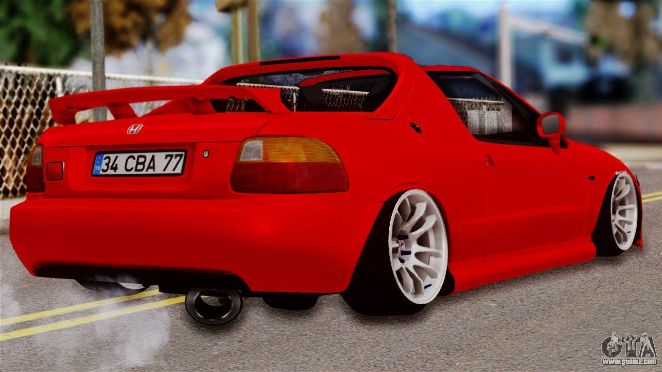 Honda Crx Targa For Gta San Andreas